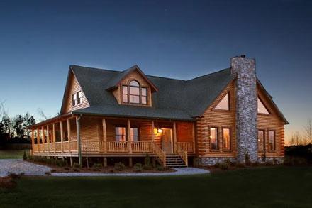 Modular log homes saratoga log homes for Least expensive prefab homes