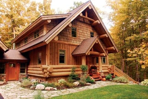 Hybrid Log And Timber Homes Saratoga Log Homes